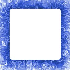 Blue Abstract Frame Background Stock Images