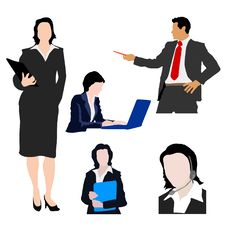 Free Silhouettes Of Business People Royalty Free Stock Images - 15280459