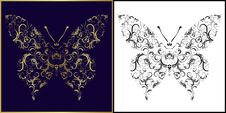 Free Vector Illustration Of Butterfly, Perfect As Tatto Royalty Free Stock Photo - 15280485