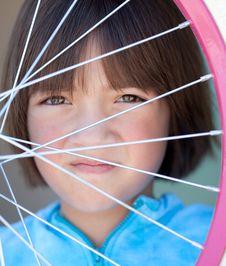 Free Girl Behind Wheel. Stock Image - 15280711