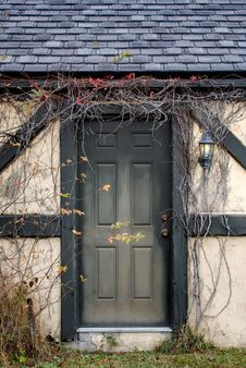 Vine Covered Doorway Stock Image