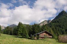 Swiss Summer Mountain Landscape Stock Photo