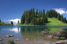 Swiss Mountain Landscape Stock Photography