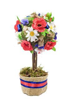 Free Celebratory Decorative Tree In A Pot Stock Photography - 15281892