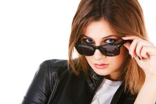 Free Charming Youn Girl In Sunglasses Stock Photography - 15282782