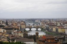 Free Skyline Of Florence City With Cloudy Weather Stock Photo - 15287260
