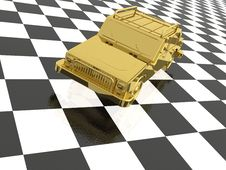 Free Gold Car Royalty Free Stock Photography - 15287367