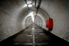 Greenwich Foot Tunnel, London. Royalty Free Stock Images