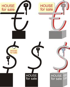 Symbol Sale Of Real Estate, Vector Illustration Stock Photo