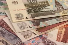 Free Russian Roubles. Different Banknotes. Royalty Free Stock Photos - 15288058