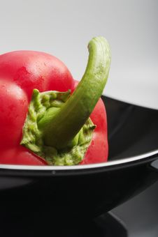 Free Red Pepper In A Plate Stock Images - 15288854
