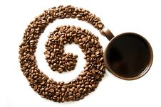 Free Coffee Swirl Royalty Free Stock Image - 15288986