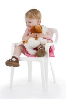 Free Merry Infant Plushy Dog Royalty Free Stock Images - 15289539