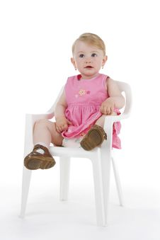 Free Infant On Stool Royalty Free Stock Image - 15289546