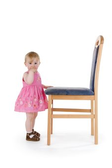 Free Infant With Chair Royalty Free Stock Photo - 15289565