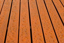 Free Water Drops On Wood Floor Royalty Free Stock Photography - 15289997