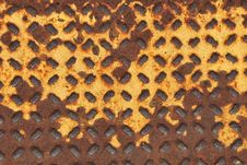 Free Rusty Yellow Walk Grate Background Royalty Free Stock Photo - 15291215