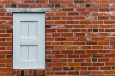 Brick Wall With  Window Royalty Free Stock Images