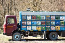 Free Truck With Beehives Stock Photography - 15291882