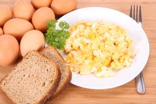 Free Scrambled Eggs Stock Image - 15291891