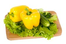 Free Fresh Vegetables On Wooden Board Stock Photos - 15291903