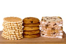 Free Piles Of Wafers, Oatmeal Biscuits And Cake Stock Photos - 15292073