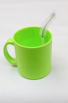 Free Cup And Brush Stock Image - 15292171