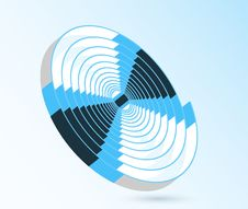 Free Abstract Blue Swirl Spiral Illustration Royalty Free Stock Photo - 15295485
