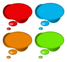 Free Speech Bubbles Royalty Free Stock Photos - 15295688