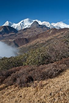 Snow-capped Mountain Landscape Royalty Free Stock Images