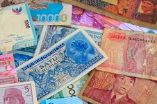 Free Vinatge Indonesian Currency Stock Images - 15296654