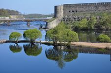 Free Russian Fortess And The Bridge Stock Photo - 15296900