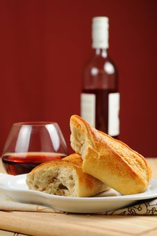 Free French Bread Stock Photo - 15296960