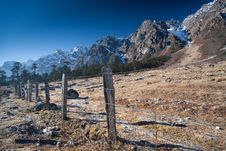 Free Rocky Mountain Fence Line Stock Image - 15297161