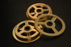 Free Three Cog Wheels Royalty Free Stock Photography - 15297577