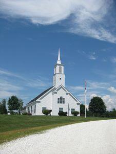 Free White Chapel Royalty Free Stock Photo - 15298465