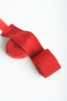 Free Red Boxing Hand Wraps Stock Photography - 15298542