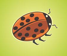Free Cute Cartoon Ladybug Stock Image - 15298631