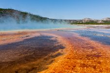 Grand Prismatic Springs Royalty Free Stock Photos