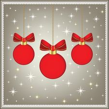 Free Red Christmas Baubles Royalty Free Stock Image - 15299586