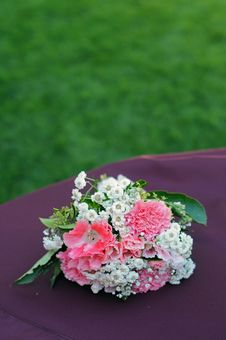 Bouquet Flowers On Table Royalty Free Stock Photos