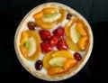 Free Summer Garden Fruits In A Sweet Glazed Cream Pie Dessert Stock Images - 1538414