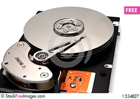 Free Disk Drive On White Background Royalty Free Stock Photography - 1534827
