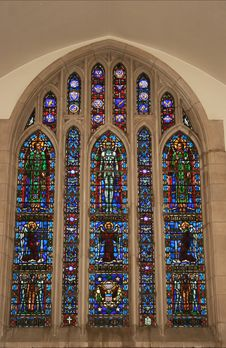 Church Window From Historic Church Royalty Free Stock Photo
