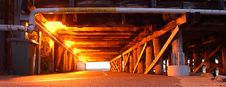 Free Wooden Support Of Bridge Under Cycleway Showing Perspective And Danger Stock Photos - 1530773
