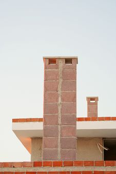 Residential Building Chimneys Royalty Free Stock Photo