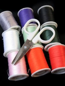Free Sewing Kit Royalty Free Stock Photo - 1530825