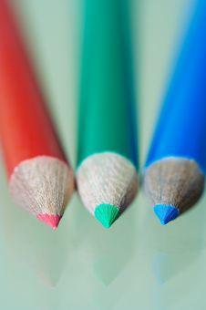 Free Three Pencils, Macro Stock Image - 1533551