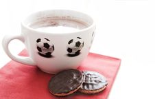 Free Hot Chocolate In Soccer Cup Royalty Free Stock Image - 1534126