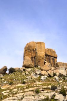Free View Of Rock Formations On Top Of A Hill Stock Photography - 1534382